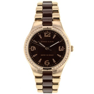 Gold-tone Anne Klein Women's Ceramic Watch