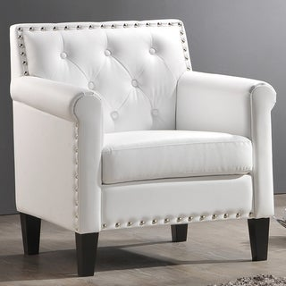 Baxton Studio 'Thalassa' White Modern Arm Chair