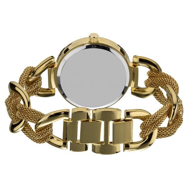 Akribos XXIV Women's Multifunction Mesh Link Bracelet Watch