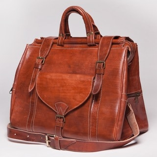Tan Leather Travel Bag (Morocco)