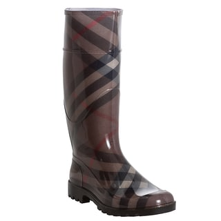 Burberry Women's 'Parkfield' Smoked Check Pattern Rain Boots