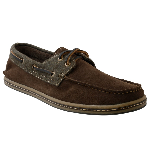 GBX Men's Brown Suede Boat Shoes