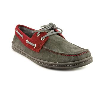 GBX Men's Dark Gray Suede Boat Shoes