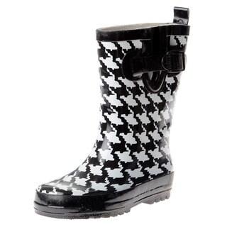 Henry Ferrera Children's Houndstooth Rubber Boots