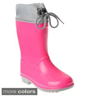 Henry Ferrera Girl's Colorblock Rubber Rain Boots