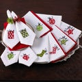 Holiday Hemstitched Napkins (Set of 4)