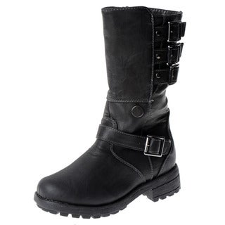 Eddie Marc Girl's Multi-buckle Motorcycle Boots