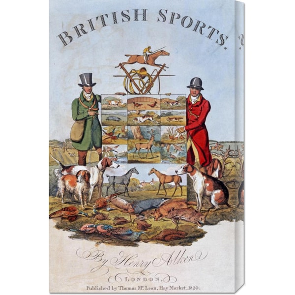 Henry Alken 'The National Sports of Great Britain' Stretched Canvas Art