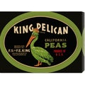 Retrolabel 'King Pelican California Peas' Stretched Canvas Art