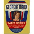 Retrolabel 'Georgia Maid Sweet Pickles' Stretched Canvas Art