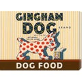 Retrolabel 'Gingham Dog' Stretched Canvas Art