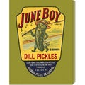 Retrolabel 'June Boy Dill Pickles' Stretched Canvas Art