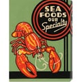 Retrolabel 'Sea Foods Our Specialty' Stretched Canvas Art