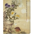 Ma Yuanyu 'Chrysanthemums and Quail' Stretched Canvas