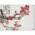 Wu Changshuo 'Plum Blossoms' Stretched Canvas