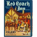 Retrolabel 'Red Coach Inn Celery' Stretched Canvas