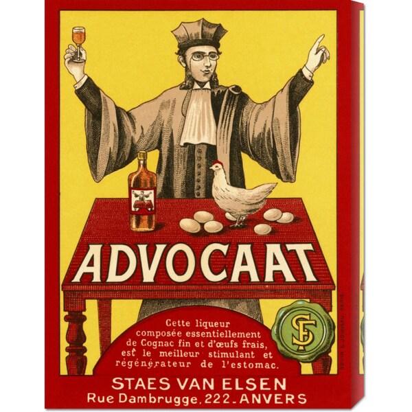 Big Canvas Co. Retrolabel 'Advocat' Stretched Canvas
