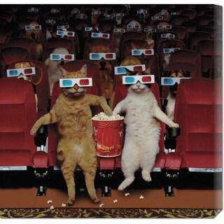 John Lund '3-D Movie' Stretched Canvas