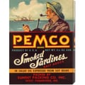 Retrolabel 'Remco Smoked Sardines' Stretched Canvas