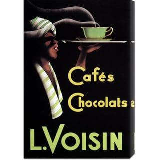 Retrolabel 'Cafes Chocolats L. Voisin' Stretched Canvas