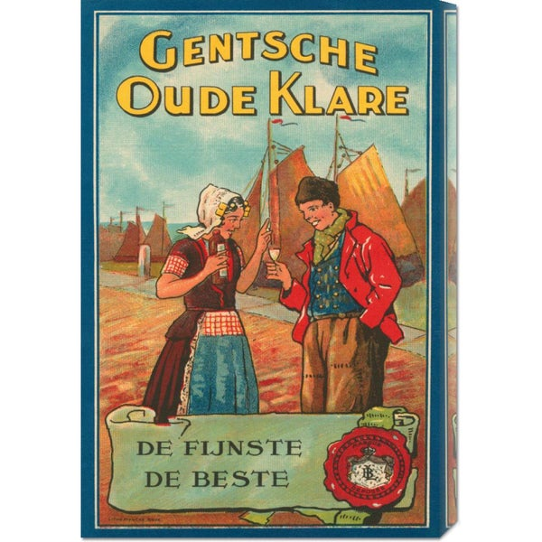 Retrolabel 'Gentsche Oude Klare' Stretched Canvas