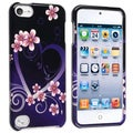 BasAcc Dark Purple Heart Snap-on Case for Apple iPod 5th Generation