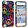 BasAcc Black Rainbow Peace Sign Case for Apple iPod 5th Generation