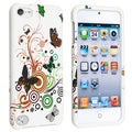 BasAcc White Autumn Flower Snap-on Case for Apple iPod 5th Generation