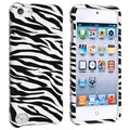 BasAcc White/ Black Zebra Snap-on Case for Apple iPod 5th Generation
