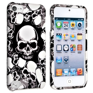 BasAcc White Skull Snap-on Case for Apple iPod 5th Generation
