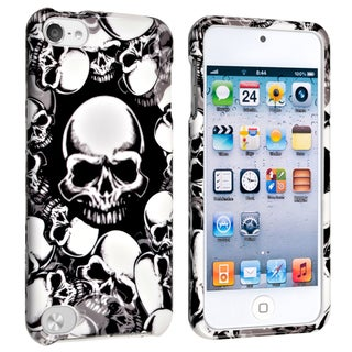 INSTEN White Skull Snap-on iPod Case Cover for Apple iPod 5th Generation