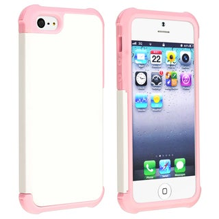 BasAcc Light Pink/ White Hybrid Case for Apple iPhone 5