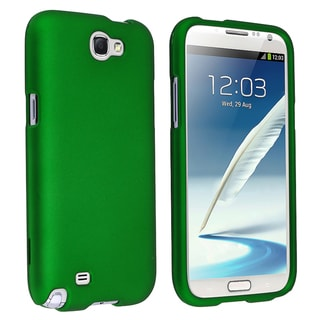 BasAcc Green Rubber Coated Case for Samsung Galaxy Note II N7100