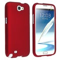 BasAcc Red Rubber Coated Case for Samsung Galaxy Note II N7100