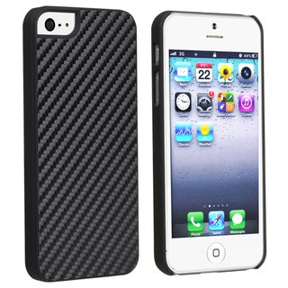 BasAcc Carbon Fiber Rear Snap-on Case for Apple iPhone 5