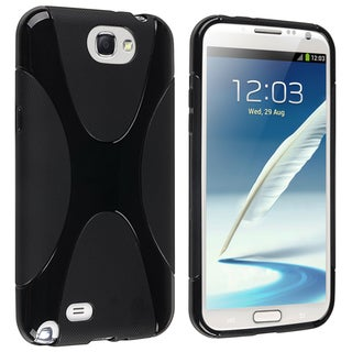 BasAcc Black X Shape TPU Case for Samsung Galaxy Note II N7100