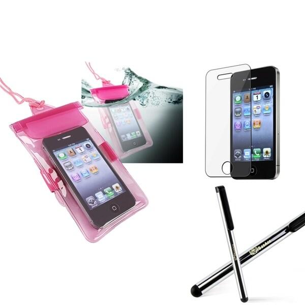 INSTEN Waterproof Bag/ LCD Protector/ Stylus for Apple iPhone 4/ 4S