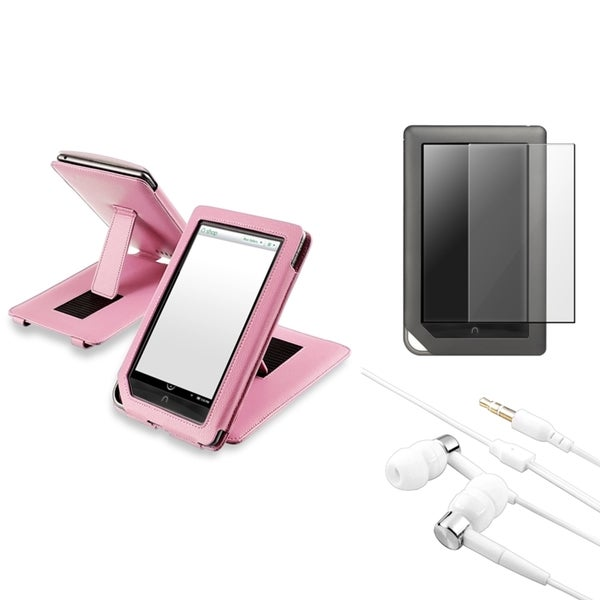 INSTEN Phone Case Cover/ LCD Protector/ Headset for Barnes & Noble Nook Color