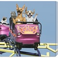 John Lund 'Riding on Roller Coaster' Stretched Canvas