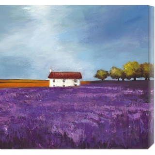 Philip Bloom 'Field of Lavender (Right Detail)' Stretched Canvas