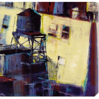 Patti Mollica 'Terrace Watertower' Stretched Canvas