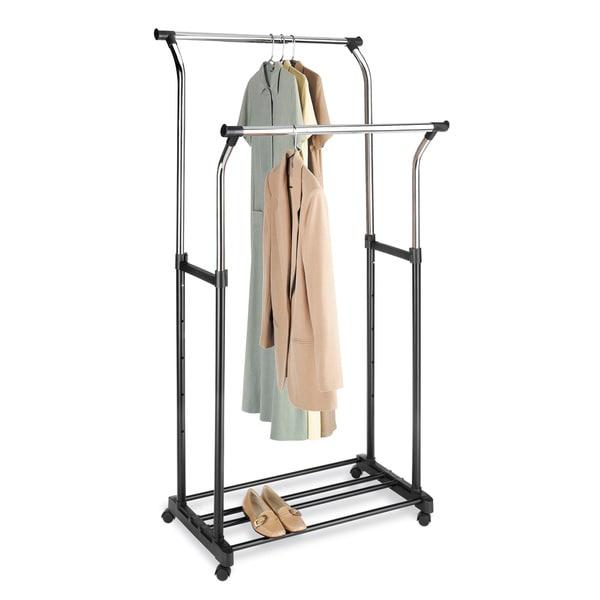 Whitmor Double Adjustable Garment Rack