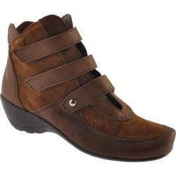 Women's Antia Shoes Ellen Cognac Leather/Suede