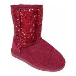 Girls' Lamo Sequin Boot Red