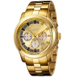 JBW Men's Gold-Tone Steel 'Delano' Chronograph Diamond Watch