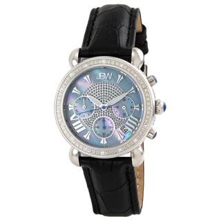 JBW Women's Stainless Steel Blue 'Victory' Diamond Watch