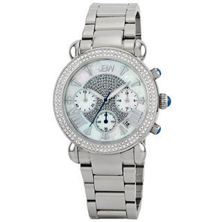 JBW Women's Silver Stainless Steel Chronograph Diamond Watch