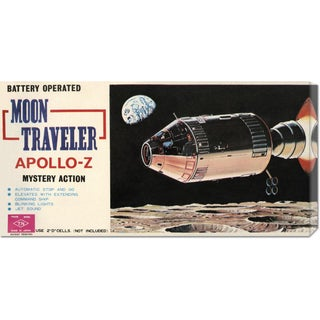 Retrorocket 'Moon Traveler Apollo-Z' Stretched Canvas