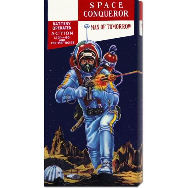 Retrobot 'Space Conqueror' Stretched Canvas