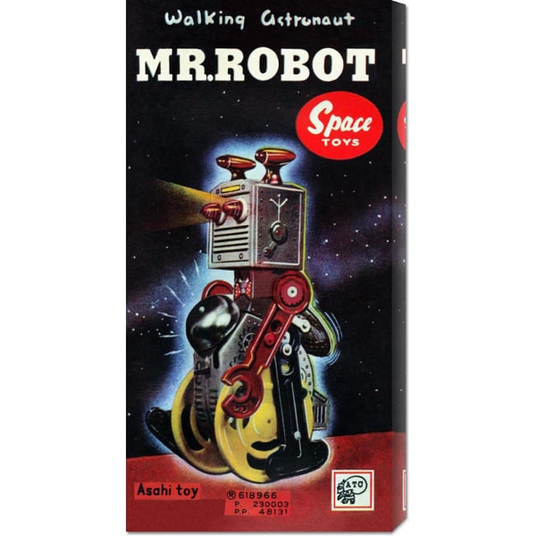 Retrobot 'Mr. Robot' Stretched Canvas